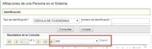 Cómo imprimir los resultados de mi consulta SISPRO RUAF