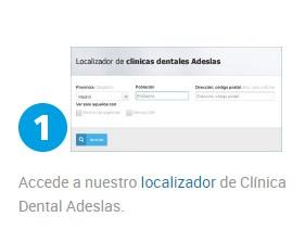 Cita previa en la Clínica Dental Adeslas paso 1