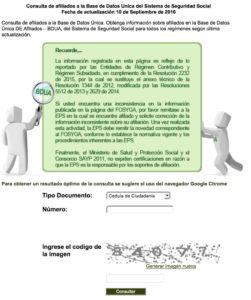 Consulta FOSYGA (Certificado ADRES) Paso 3