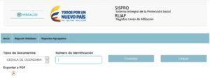Consulta de Afiliaciones para Pensionados (RUAF)