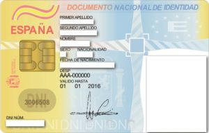 Documentación requerida para la tramitación del DNI