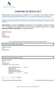 Documento de autorización Renta