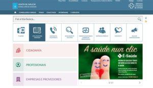 Portal web SERGAS