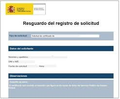 Registro de solicitud INEM