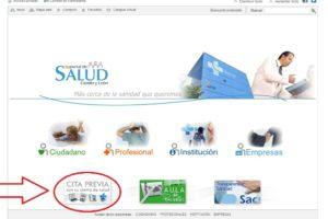 Solicitar la cita previa en los Centros de Salud del Sacyl por medio del Portal web