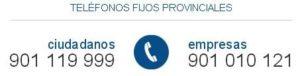 Teléfonos fijos provinciales SEPE
