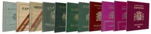 Tipos de pasaporte español