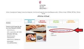 oficina virtual del servicio de ocupación de las Islas Baleares